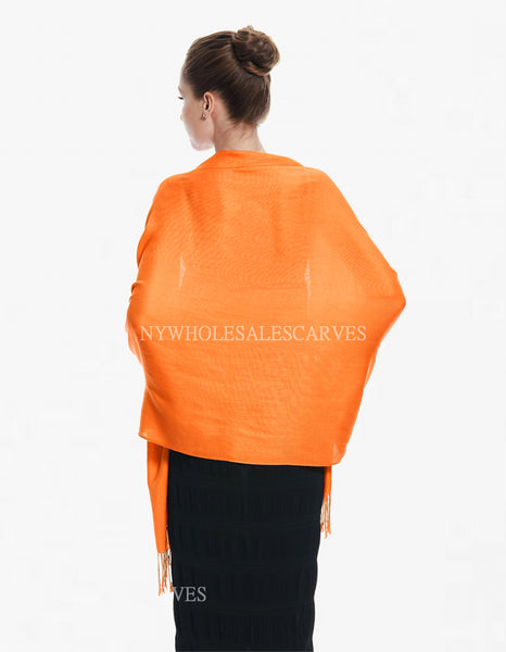 8139 Orange Pashmina Scarf