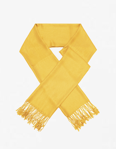 8141 Dark Yellow Pashmina Scarf