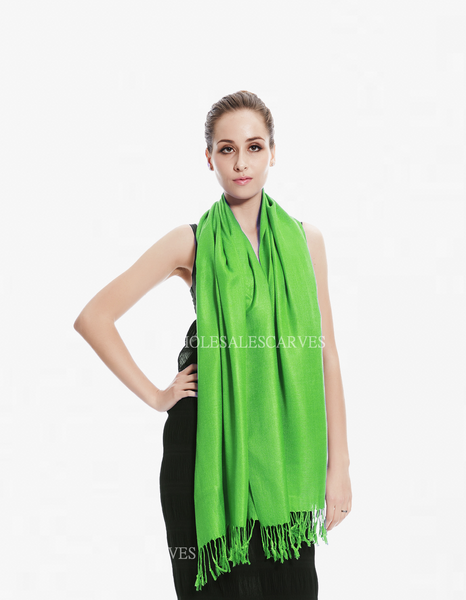 8147A Kelly Green Pashmina Scarf