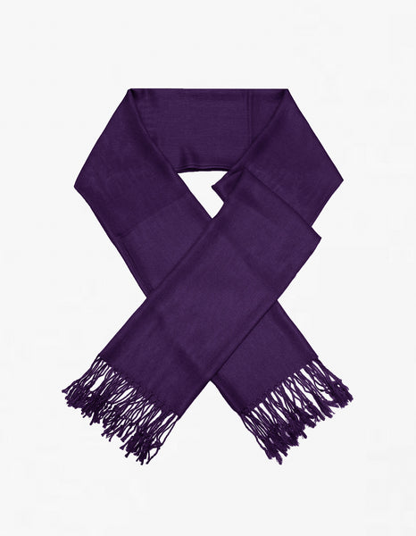 8149 Dark Purple Pashmina Scarf