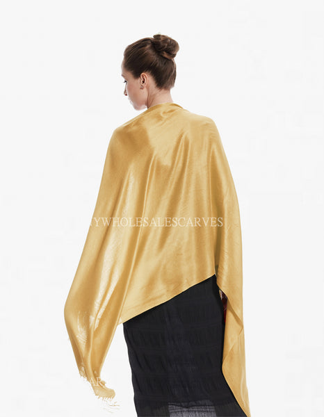 8150 Soft Light Gold Pashmina Scarf