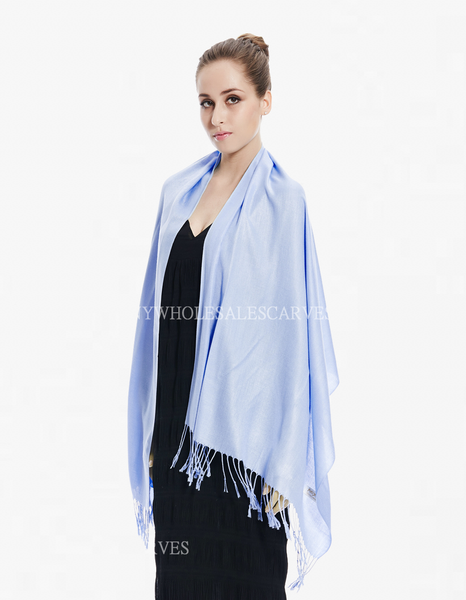 8156 Light Blue Pashmina Scarf