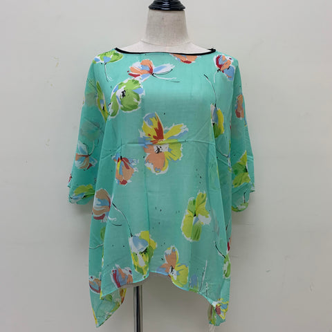 AA010 Floral Pattern Spring & Summer Poncho