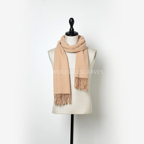 Cashmere Touch Solid Shawl  FWAZ2103 Almond