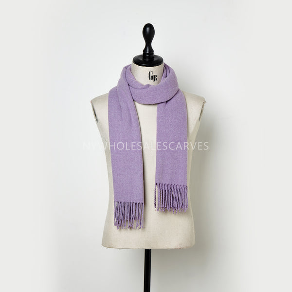 Cashmere Touch Solid Shawl FWAZ2108 Light Purple
