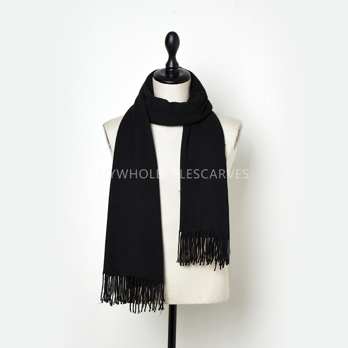 Cashmere Touch Solid Shawl FWAZ2110 Black