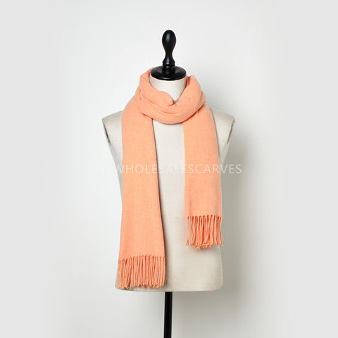 Cashmere Touch Solid Shawl FWAZ2111 Orange