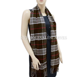 Cashmere Feel Scarf FW100-18  Brown