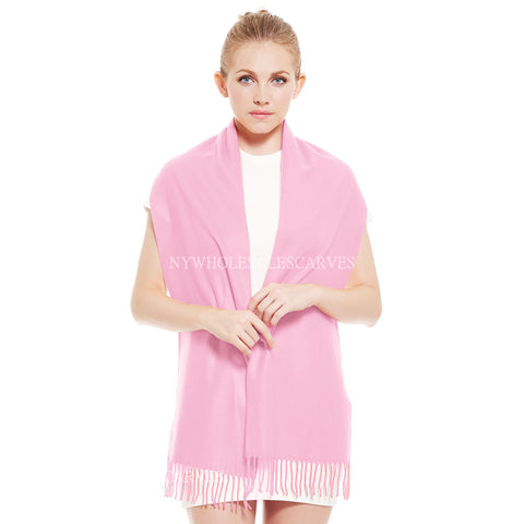 Cashmere Feel Scarf FW19-07C Light Pink