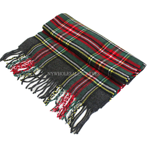 Cashmere Feel Scarf FW17-14 Green Red