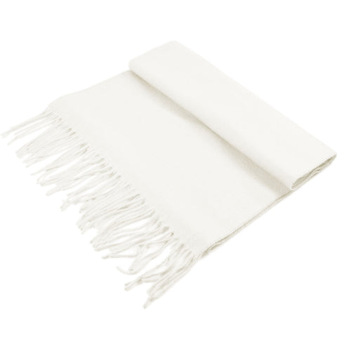 Cashmere Feel Scarf FW19-11 Ivory