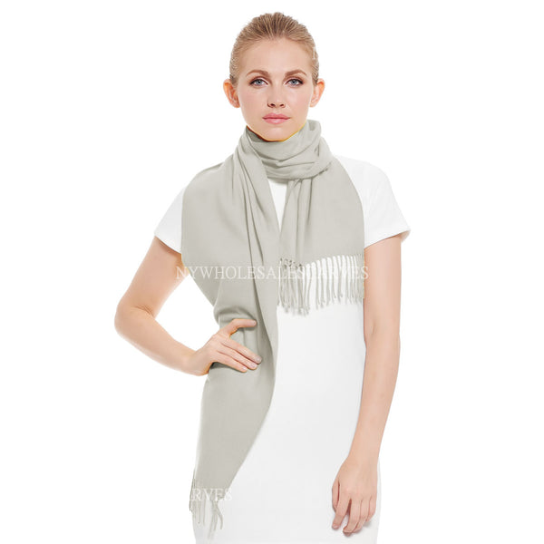 Cashmere Feel Scarf FW19-15 Gull Grey