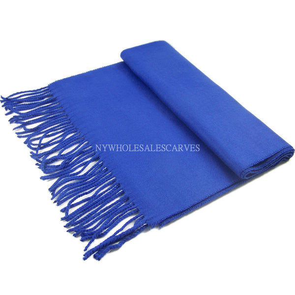 Cashmere Feel Scarf FW19-16 Medium Blue
