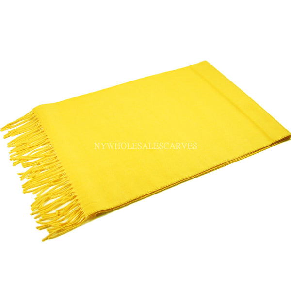 Cashmere Feel Scarf FW19-18 Yellow