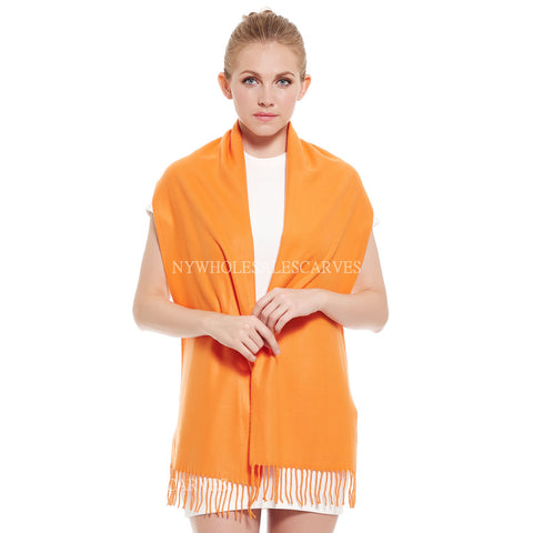 Cashmere Feel Scarf FW102007 Orange