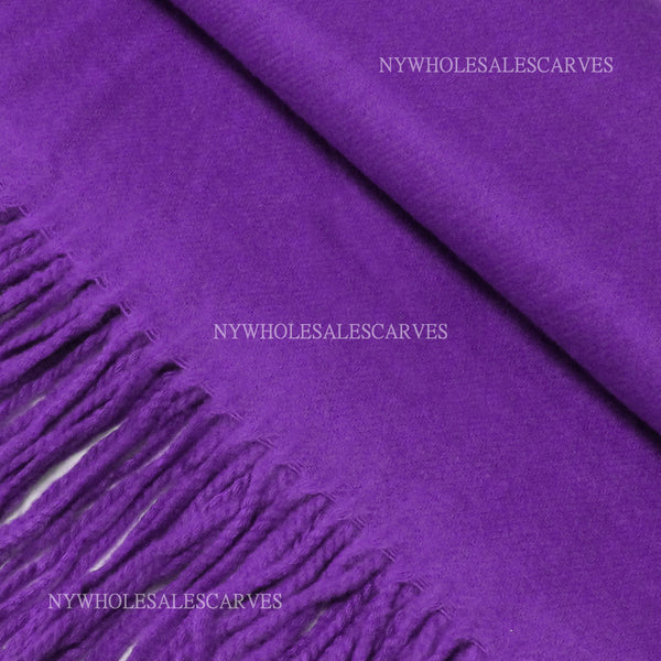 Cashmere Touch Solid Shawl  FWAZ19-21 Purple
