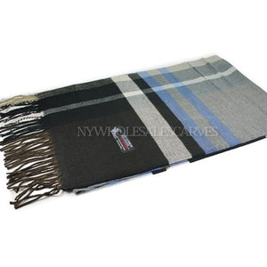 Cashmere Feel Scarf FW26-01 Brown/Blue