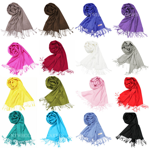 093S      Premium Silky Soft Bamboo Fiber Shawl Assorted Colors