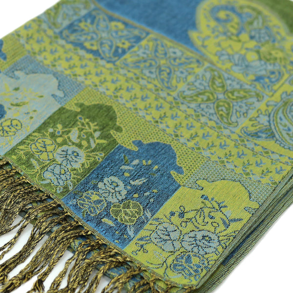 IPB00S Indian Paisley Pashmina Assorted Colors