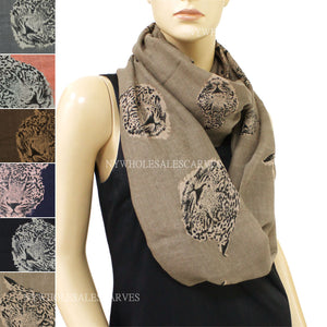 Leopard Print  Infinity Scarf FW7545 Assorted Colors