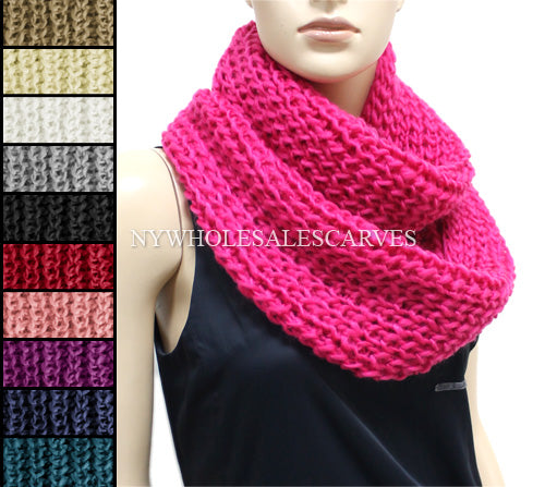 Knit Infinity Scarf FWJB397 Assorted Colors