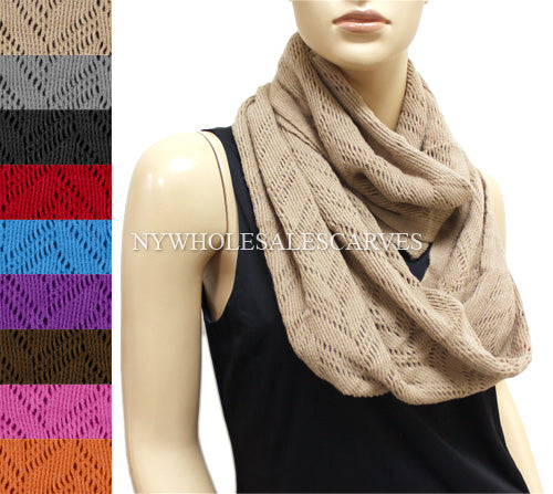 Knit Infinity Scarf FWS5346 Assorted Colors