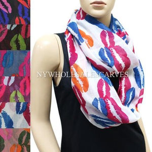 Kiss Design Infinity Scarf FWXY445 Assorted Colors