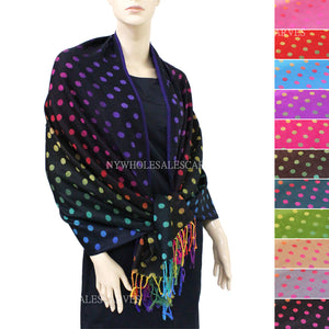 Multicolored Polka Dot  FWB419  Assorted Colors