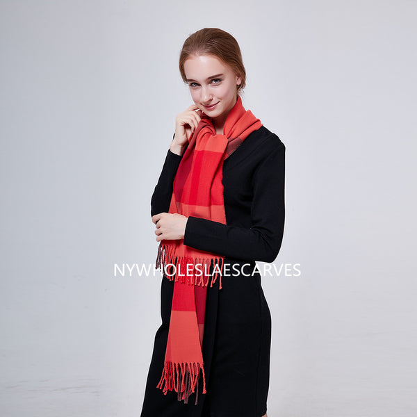 Cashmere Feel Scarf FW51402 Soft Orange