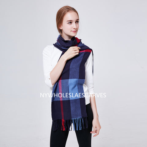 Cashmere Feel Scarf FW51405 Navy