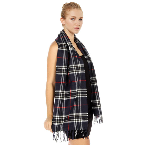 Giant Check Scarf FW07-10 Navy