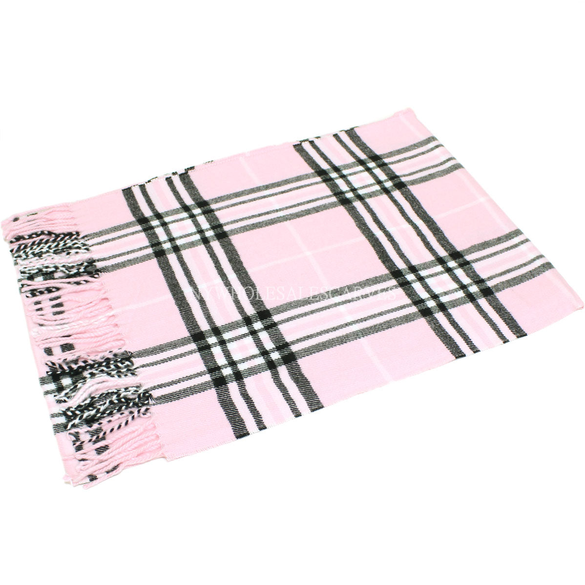 Giant Check Scarf FW07-13 Pink