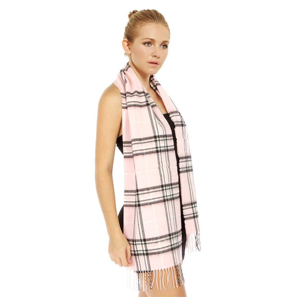 Cashmere Feel Scarf FW088 Plaid (12 Colors, 1 Doz)