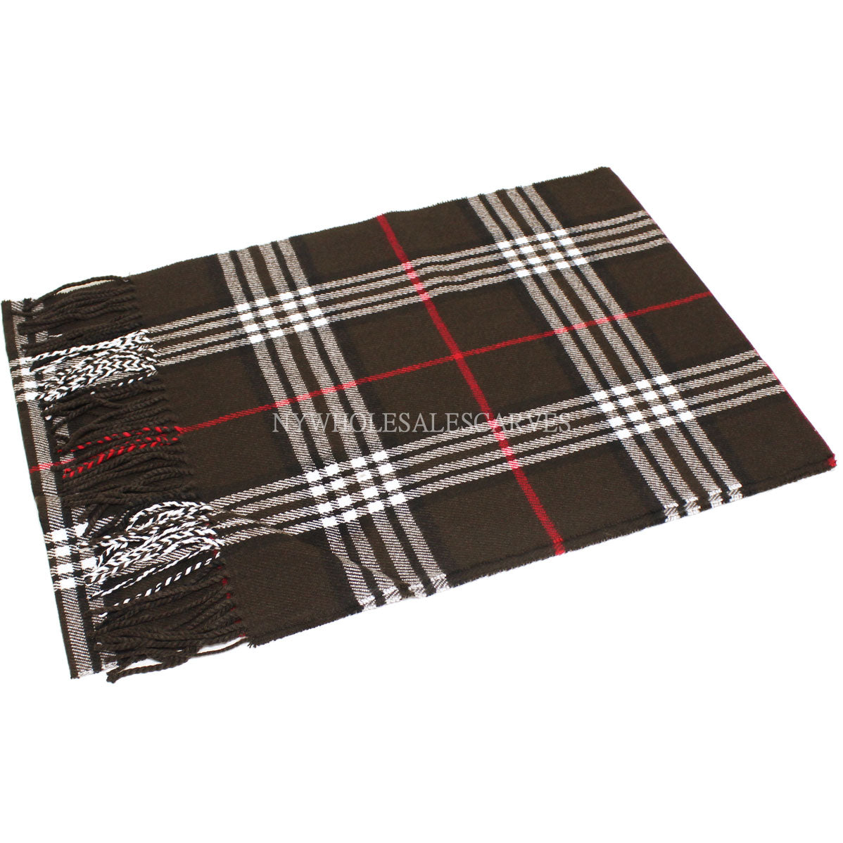 Giant Check Scarf FW07-14  Dark Brown