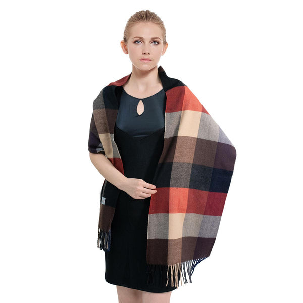 Cashmere Feel Scarf FW09-11 Black/Brown/Red/Beige