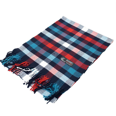 Cashmere Feel Scarf FW1426 Navy/Red/Turquoise/White