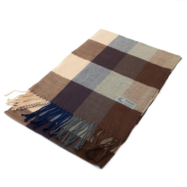 Cashmere Feel Scarf FW17920 Coffee/Camel/Navy