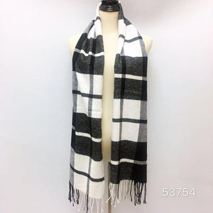 Cashmere Feel Scarf FW53754 Blk/White