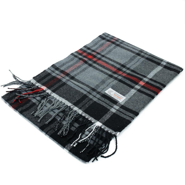 Cashmere Feel Scarf FW26-17 Black/ Grey