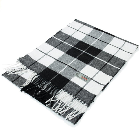 Cashmere Feel Scarf FW60122  Black/White
