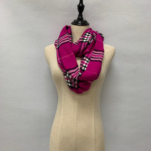Plaid Cashmere Feel Infinity Scarf FWIF07
