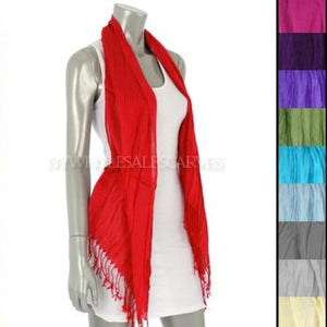 Wrinkle Solid Light Shawl FWMS Assorted Colors