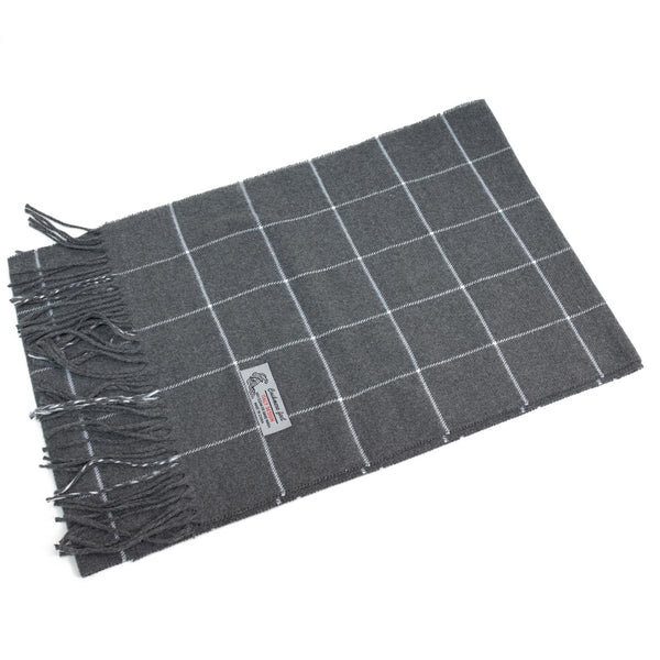 Cashmere Feel Scarf FW680  Grey/White