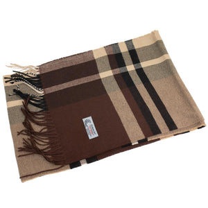 Cashmere Feel Scarf FW750 Brown/Beige/Black