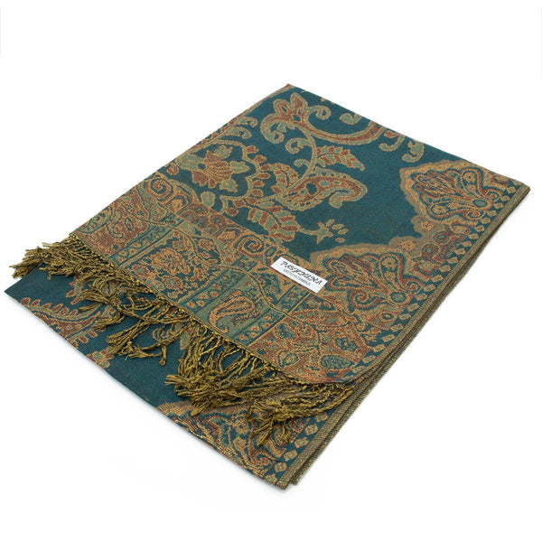 Paisley Pattern Metallic Pashmina FW565S Assorted Colors