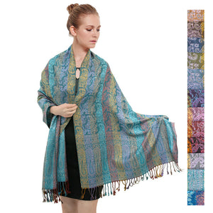Rainbow Paisley Print Pashmina FW046S Assorted Colors