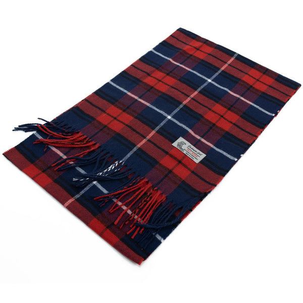 Cashmere Feel Scarf FW17-08 Navy/Red