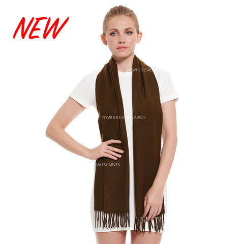 Cashmere Feel Scarf FW19-03 Brown