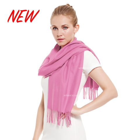 Cashmere Feel Scarf FW19-07N  Bright Pink