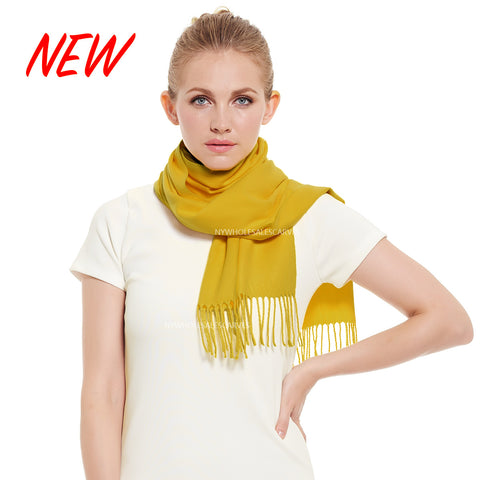 Cashmere Feel Scarf FW19-25 Sunglow